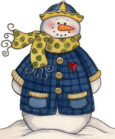 Snowman - Let it Snow - Carla Simons - Picasa Web Albums Christmas Wood, Christmas Pictures, Christmas Snowman, Christmas Projects, Christmas Holidays, Winter Clipart, Christmas Clipart, Christmas Printables, Frosty The Snowmen