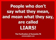 Liars thepacificationofhumanity.com