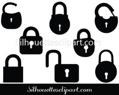 Lock Silhouette Vector Graphics Free Download