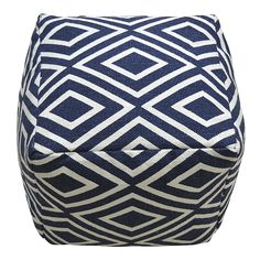 Tight on space? Outfit your home with multi-purpose decor. A pouf ottoman in a bold print is a versatile accent that can function as additional seating, an ottoman, or a tabletop surface.
