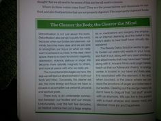 The Cleaner the Body is, the Cleaner the Mind Is!