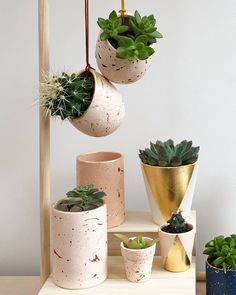 Our hand painted ceramic planters are often detailed with gold leaf.  We love shades of pinks, from blush pink to dusty rose pink.