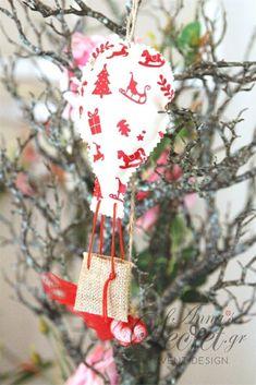 Μπομπονιέρα χειροποίητο κρεμαστό στολίδι Χριστουγεννιάτικο αερόστατο., annassecret, Χειροποιητες μπομπονιερες γαμου, Χειροποιητες μπομπονιερες βαπτισης