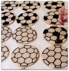 How to Make Soccer Ball Cookies - Recipe Girl