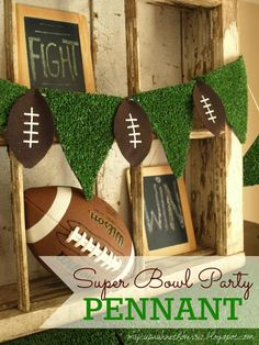 My Cup Runneth Over: SUPER BOWL PARTY DECOR and FREE FOOTBALL SUBWAY ART