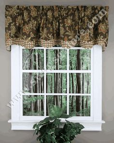 Barano is a medium scale Jacobean floral pattern, get the custom look at a discount price. #Layered #Valances