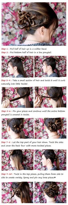 Twisted Bun Tutorial - Hairstyles and Beauty Tips
