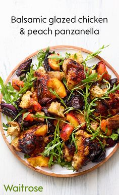 Who knew that chicken and peach are the perfect flavour pairing? Light and full of flavour, this colourful warm salad is the ideal accompaniment to a summer's evening. See the full recipe on the Waitrose website. New Recipes, Salad Recipes, Cooking Recipes, Healthy Recipes, Snacks Recipes, Drink Recipes, Recipies, Favorite Recipes, Yummy Recipes