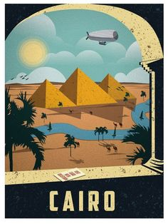 This kind of vintage travel posters are a great and original way of promoting your travel business #F8C