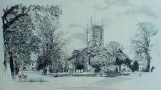 Milnthorpe Church, English Lake District, original drawing by Karl Stedman, kstedmanart@aol.com