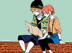 Okita Sougo х Kagura Kamui Gintama, Okikagu, Anime Love Couple, Anime Couples, Samurai, Chibi, Anime Art, Kawaii, Fan Art