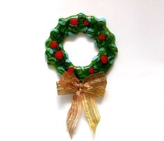 FUSED GLASS CHRISTMAS WREATH HOW TO