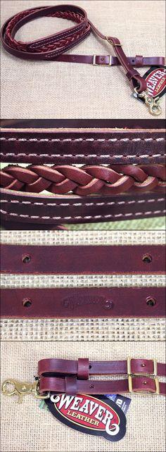 Reins 183415: Weaver 5 8In X 8Ft Burgundy Latigo Leather 3 Plait Roper Rein Western Tack Horse -> BUY IT NOW ONLY: $41.95 on eBay!
