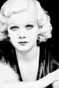 "Think you know Jean Harlow, classic Hollywood's ""Blonde Bombshell""? Here are some little-known facts about Jean's life, loves, death -- and Rin-Tin-Tin. Hollywood Cinema, Old Hollywood Glamour, Golden Age Of Hollywood, Vintage Glamour, Vintage Hollywood, Hollywood Stars, Vintage Beauty, Hollywood Actresses, Classic Hollywood"