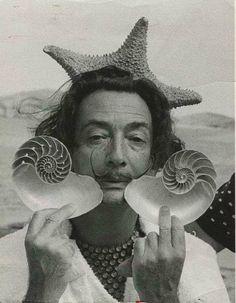 rare photo of rare species ( Salvador Dali )