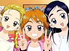 Hikar, Nagisa, and Honoka