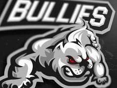 Bullies mascot logo by Marko Berovic Sports Brand Logos, Sports Brands, Sports Decals, Esports Logo, Bully Dog, Dog Rules, Cool Things To Make, Pitbulls, Stencils