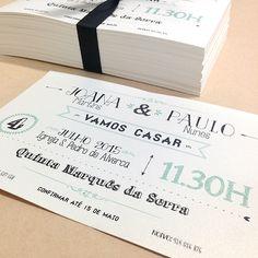 Convites casamento Joana e Paulo // Joana and Paulo's wedding invitations  #beapaper #weddinginvitations #convitecasamento