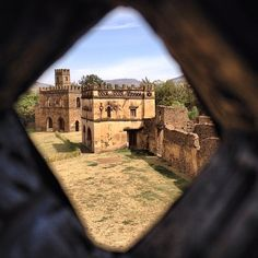 Keeping an eye on the library, Fasiladas Palace. Gondar, Ethiopia. The Italians later came to town to take over. The British subsequently bombed them in WWII. The Italians also brought pasta and espresso machines, still here today.