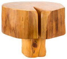 Patagonian Salvaged Cypress Side Table - modern - side tables and accent tables - by Patron Design