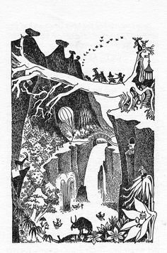 wwni:    Tove Jansson, The Exploits of Moominpappa, 1952  #moomin #mumin #art