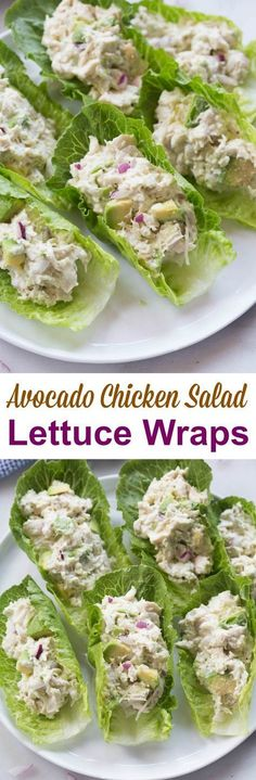 If you love chicken salad and avocados you will go crazy for these AVOCADO CHICKEN SALAD WRAPS! They make a healthy and delicious lunch that I can't get enough of. paleo diet plan