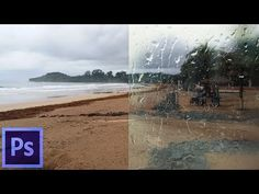 Realistic Water Drops effect on a Wet Frosted Glass Photoshop Tutorial - YouTube