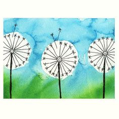 This dandelion painting uses bleeding tissue paper and rubber cement for masking out a puffy flower. Spring Art Projects, School Art Projects, Dandelion Painting, Painting Art, Time Painting, Tissue Paper Art, Paper Poms, Wal Art, Art Premier
