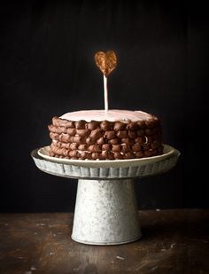 Strawberry Cream Cheese Frosted Chocolate Blackout Cake