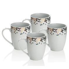 Sada 4 porcelánových hrnků Gatsby, 300 ml | Bonami