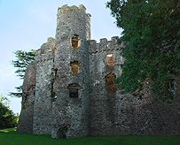 Laugharne Castle - Wales - Tudor Windows Romantic Inspiration of Turner and Dylan Thomas