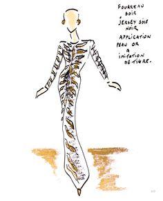 """Encontro com Hubert de Givenchy, Audrey caderno de desenho Hebern """"Para Audrey com amor"""""""