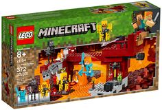 LEGO® Minecraft The Blaze Bridge 21154 - Lego - The Blaze Bridge set, featuring a fiery Minecraft Nether setting with a bridge, burning lava, fearsome Minecraft mobs and unique items. Lego Minecraft, Minecraft Wither, Minecraft Ender Dragon, Minecraft Videos, Minecraft Party, Minecraft Crafts, Minecraft Skins, Lego Creator, Lego City
