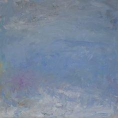 Rautio: Taivas - lumipyry tulossa, Sky - snowstorm coming, 80x80 cm, oil on canvas, 2017