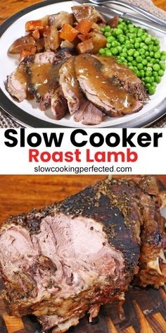 This slow cooker lamb roast is tender and packed with flavor from the garlic, rosemary, oregano, and vegetables. Lamb Roast Recipe, Roast Recipes, Crockpot Recipes, Cooking Recipes, Slow Cooker Lamb Roast, Slow Cooked Lamb, Lamb Shoulder Slow Cooker, Slow Cooker Lamb Recipes, Lamb Shanks Slow Cooker
