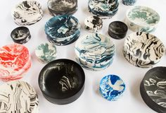 Poured Bowls _Top view many_Troels Flensted