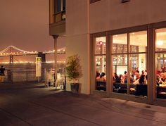 The first thing you notice about this San Francisco standby are the views. Ever since The Slanted Door moved into the Ferry Building from its original Valencia street location, the bay has become a welcome addition to the minimalist interior.