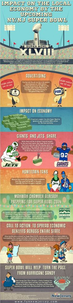 This Infographic gives us the information about the Super Bowl XLVIII which will be the 48th edition of Super Bowl and also 44th annual championship game of the modern era NFL. #Sports #SuperBowl #Game