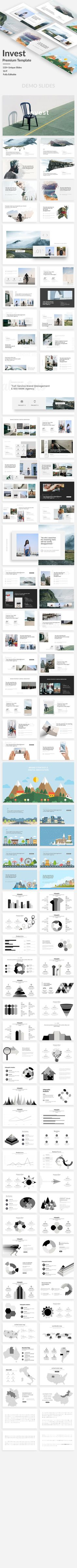 Invest Premium Powerpoint Template — Powerpoint PPT #infographic #chart • Available here ➝ https://graphicriver.net/item/invest-premium-powerpoint-template/20922556?ref=pxcr