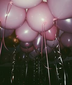 Pink party balloons.                                                                                                                                                                                 More