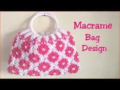 Hi, it's Macrame Creation . In this video i'm sharing with u Macrame bag in round shape design here i used - macrame cord mtr ) ring - 2 inch ) hope. Macrame Bag, Macrame Knots, Form Design, Crochet Shell Stitch, Easy Crochet, Chevron Purse, Sacs Design, Crochet Handbags, Crochet Bags