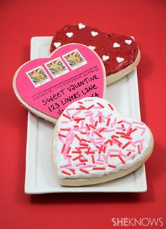 Send a sweet cookie to a long distance Valentine. Totally doing this for the Great Grandparents!