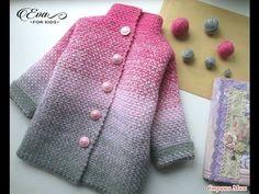 """Детский кардиган"""" Лало"""" крючком, crochet cardigan for baby ,( бэби № 57) - YouTube"""