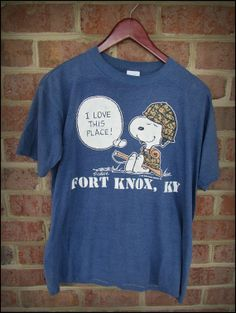 Vintage 90's Peanuts Snoopy Fort Knox Kentucky Shirt by CharchaicVintage, $14.00