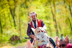 The groom riding on horseback {Dholfusion Entertainment Indian Wedding DJ}