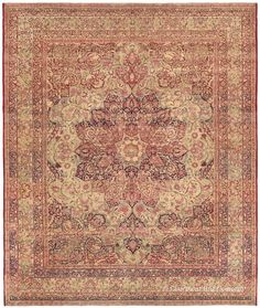 LAVER KIRMAN, Southeast Persian 9ft 4in x 11ft 0in Late 19th Century