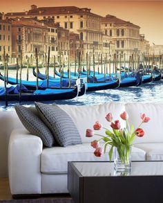 Fotomurales Gondolas Venecianas. Ideas decoración academia de italiano #decoración #academia #italiano #ideas #vinilo #TeleAdhesivo