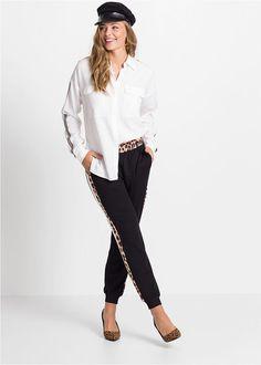 Pantaloni casual negru Un pantalon • 57.9 lei • bonprix Lei, Bikini, Costume, Suits, Jeans, Casual, Style, Fashion, Bikini Swimsuit