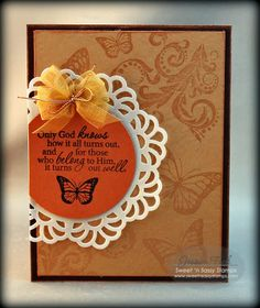 Sweet 'n Sassy Stamps used: Leafy Flourish Background and more, Majestic Monarch Set, The Future Set.