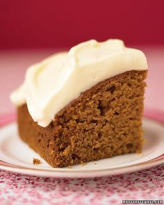 Cinnamon, ginger, nutmeg, allspice, and cloves give this pumpkin cake a warm…